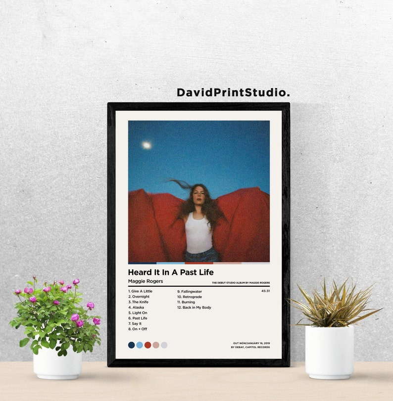 Maggie Rogers Posters Heard It In A Past Life Poster  Custom Album Cover Poster Print  Music Album Poster  Home Decor  Wall Art Gift