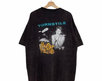 Vintage Turnstile Hardcore Metal Punk Band Vintage Turnstile Crewneck Plain Tee Vintage Turnstile Pullover Tee Size M