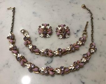 1960's Vintage Art Deco Jewelry Set