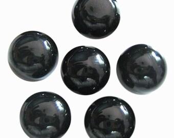 lot 100/% Natural Black onyx cushion shape cabochon for jewelry Black Onyx Cabochon 10 pic