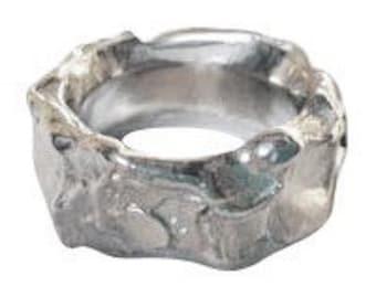 Silver Organic Ring