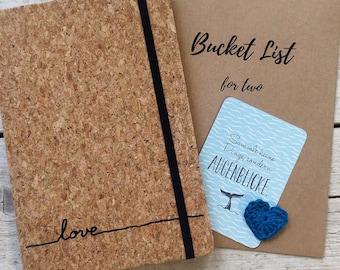 Notebook for Lovers + Mini Brochure Bucket List