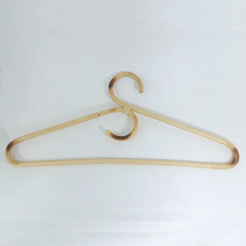 Rattan Clothes Hanger Style Garments Organizer Wicker Rack image 1