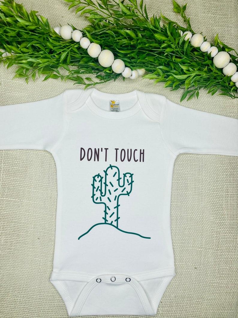 Baby Onesie Quarantine Baby Onesie Funny Baby Onesie Custom Baby bodysuit Don/'t Touch Cactus Onesie