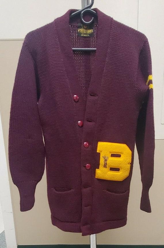 60s Vintage Bloomsburg College Letterman Sweater