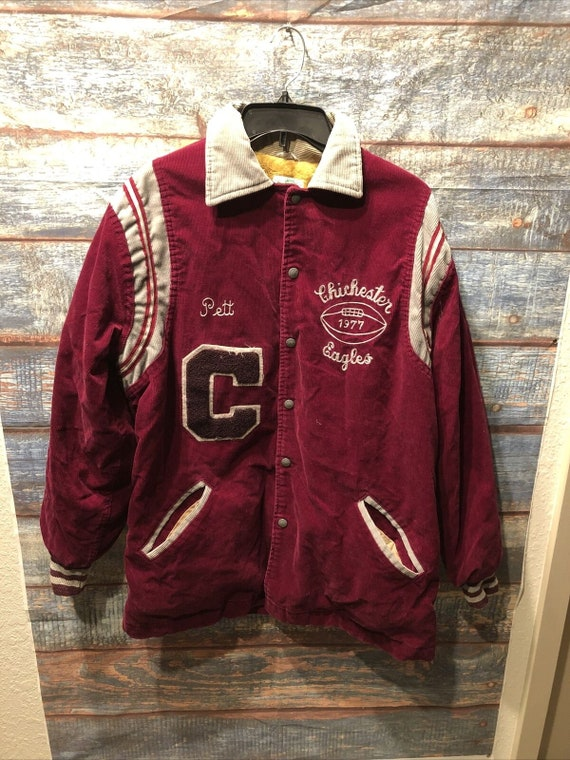 Vintage 70s Varsity Jacket Corduroy Letterman Jack