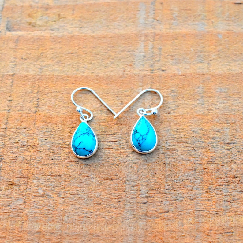 925 Sterling Silver Jewelry Amethyst,Turquoise Gemstone Earring-Bridal Earring-Silver Earring-Women Jewelry-Handmade Earring-Gift For Her