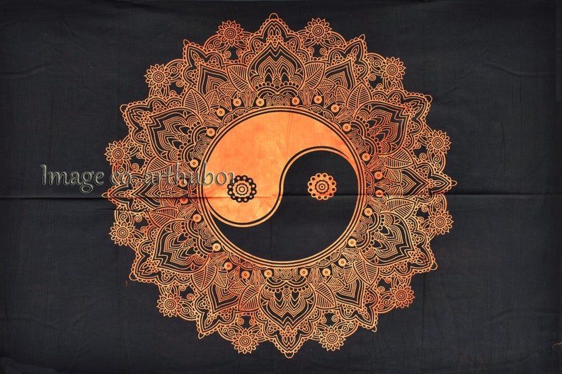 Indian Mandala Wall Hanging Handmade Poster Cotton Small Tapestry Home Decor Poster 42 X 30 Inch Traditional Decor Art Small