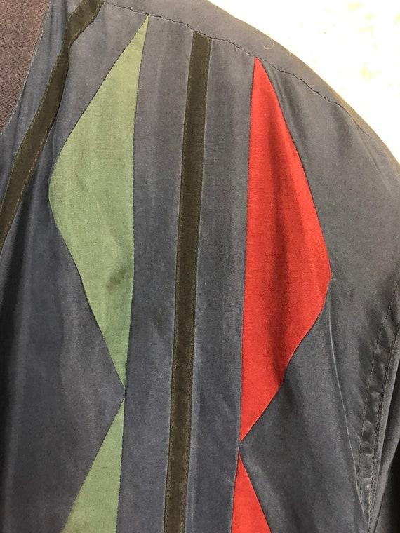 Vintage Silk Size L Bomber jacket silk Blouson Li… - image 6