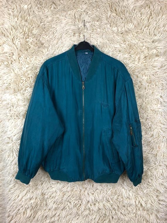 Vintage Size M-L Silk Jacket bomberjacket Bomberja