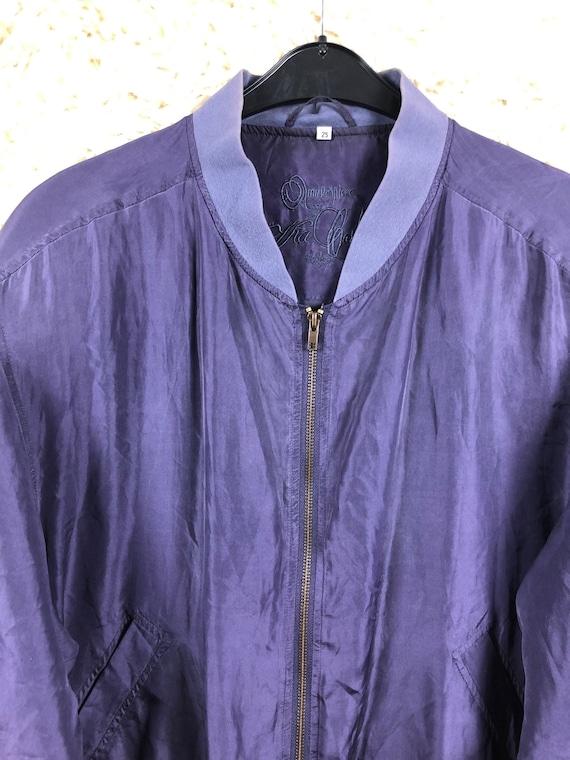 Vintage Size M-XL silk jacket bomber jacket jacke… - image 5
