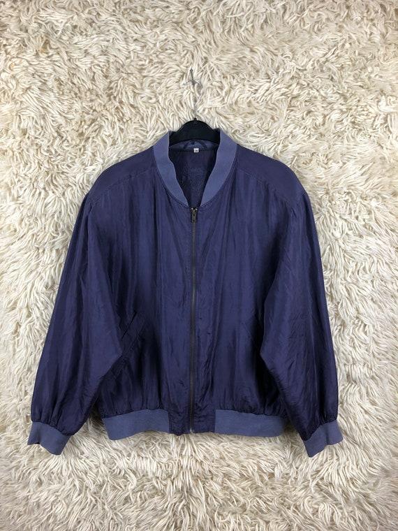 Vintage Size M-XL silk jacket bomber jacket jacke… - image 1