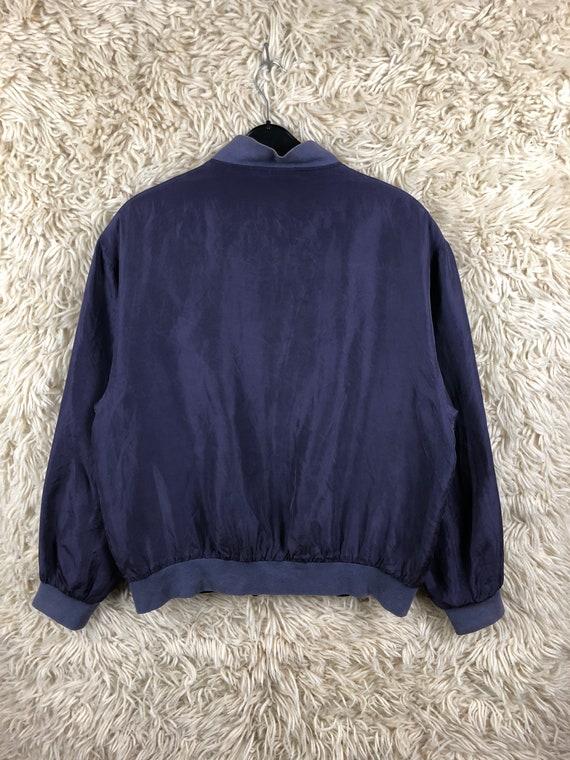 Vintage Size M-XL silk jacket bomber jacket jacke… - image 3