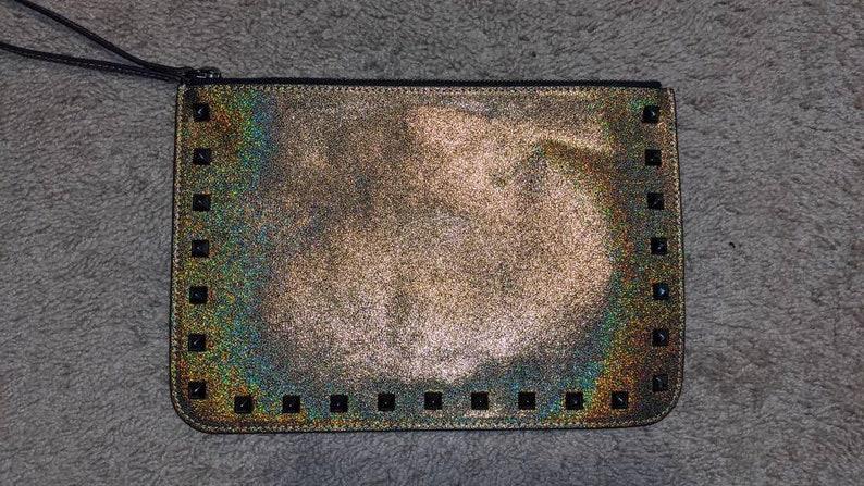 Rebecca Minkoff Studded Glitter Kerry Pouch