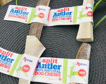 Antos Antler Split Large Chews For Dogs Pack of 2 Split Horns Organic Chew Dog Toy