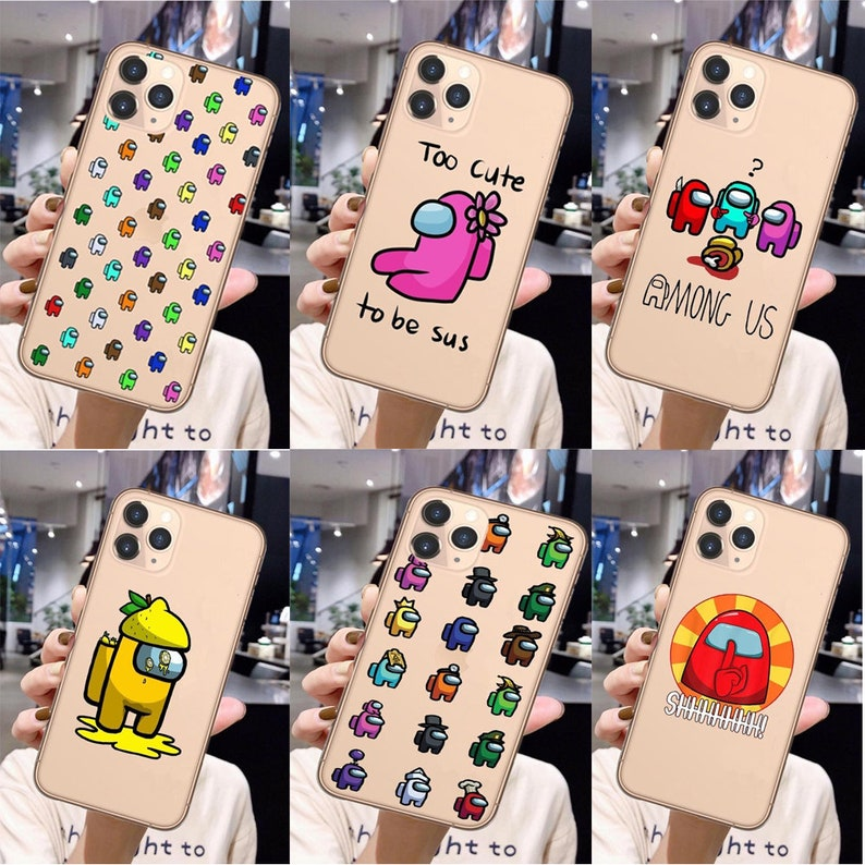 Among Us Game Transparent Phone Case Cover For iPhone 12 Pro Max SE 2020 11Pro Max 6 6s 7 8 Plus X XR Xs Max Soft Silicone Coque