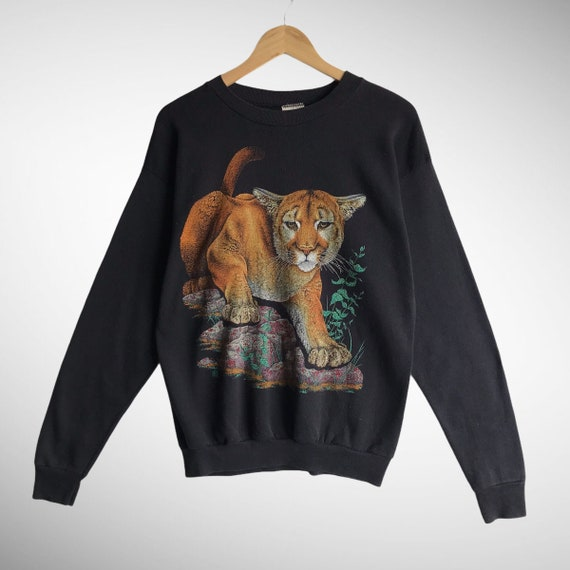 Vintage Animal Biglogo Print Animal Sweatshirt  90