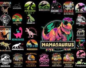 Mother/'s Day PNG Dinosaur Mamasaurus PNG Mamasaurus Sublimation Image Mom