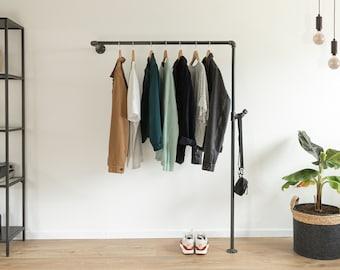 Kleiderstange Industrial Garderobe mit Wandmontage *JAKOB*