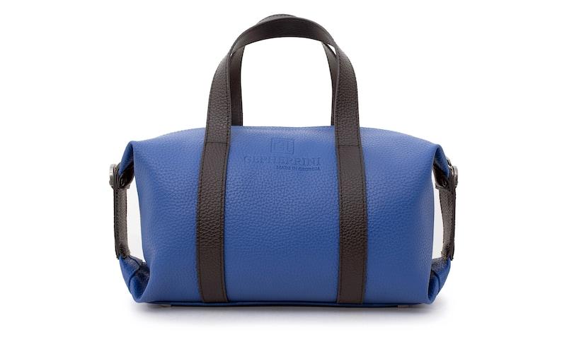handbag gift for her handmade bag for woman GEPHERRINI \u2022 INDY Vegan leather leather shoulder bag blue  for woman