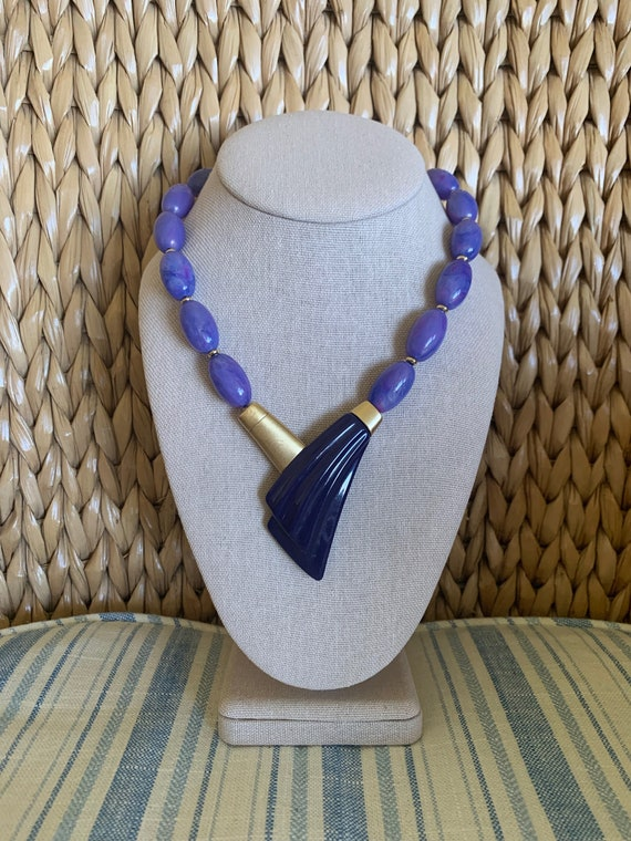Vintage Trifari Kunio Matsumoto Purple necklace