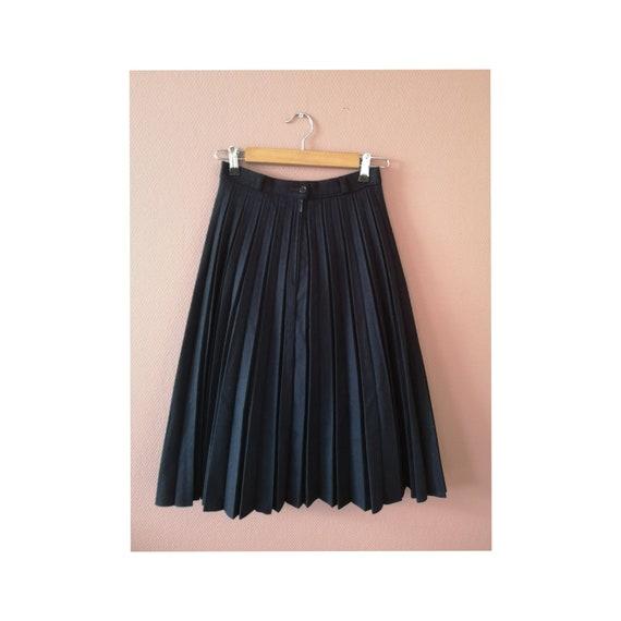 Vintage Pleated Skirt, Wool Skirt, Vintage Skirt