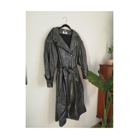 Houndstooth Raincoat
