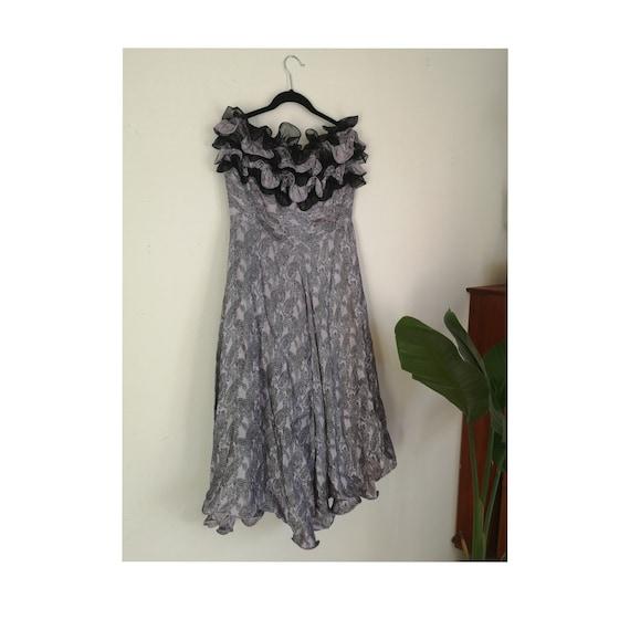 Vintage Dress, Italian Gown, Italian Dress