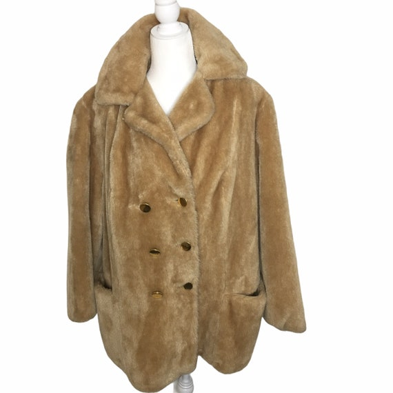 Vintage 1980's Sears Fashions Teddy Bear Coat