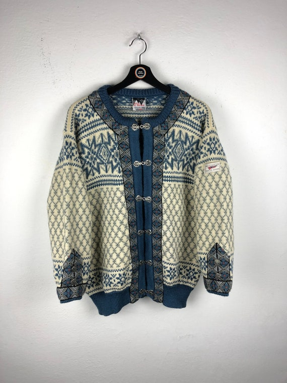 Vintage 90's Dale of Norway cardigan sweater, warm