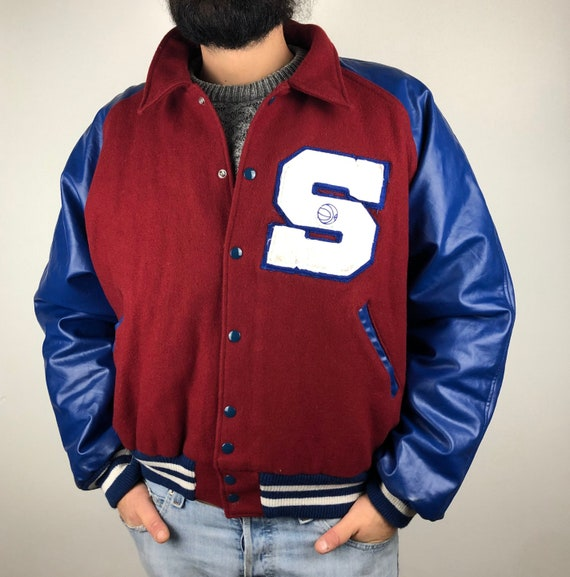 Varsity jacket, college America, vintage 90', bomb
