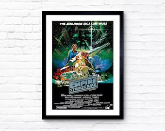 STAR WARS 3x POSTERS SET A2 A3 Empire Strikes Back Movie Art Vintage Prints