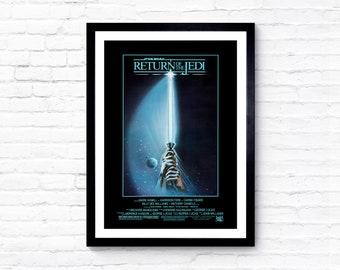 Star Wars: Return of the Jedi - Episode VI - 1983 - Movie Poster / Film Poster - A1, A2, A3, A4, A5 Prints