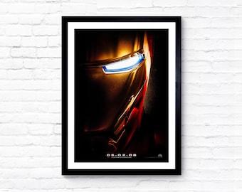 Iron Man - 2008 - Movie Poster / Film Poster - A1, A2, A3, A4, A5 Prints
