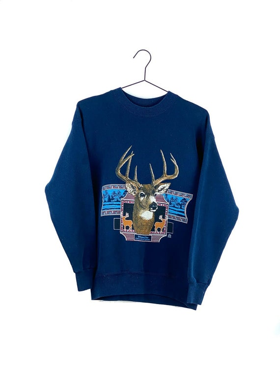Vintage Sweater with Deer Print by Lee M