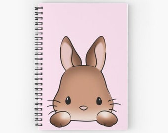 Blank-Ruled pages-Spiral Notebook-Journal for Rabbit Lovers-Cute Rabbit Gift-Pet Animal Lover-Bunny Rabbit Journal-Bunny Cover