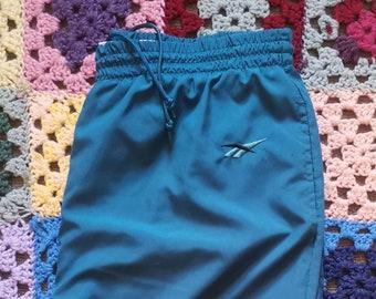Vintage 90s Reebok Track Pants Teal Large