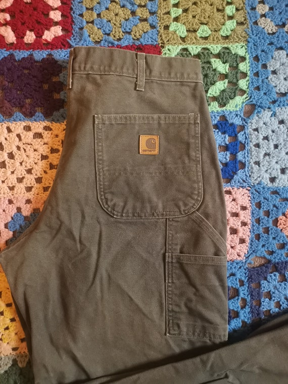 Vintage Carhartt Olive Dungaree Carpenter Pants Wi