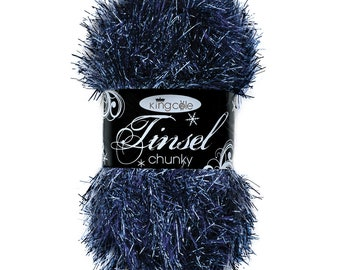 baby boy blue colour code 1995 Pale blue Tinsel yarn King Cole chunky glitter 50 g per ball 70meter 76.5 yards