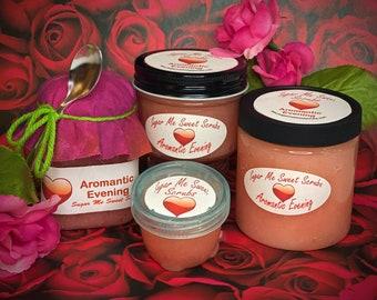 Aromantic Evening, Body Scrub, Luxury Skincare, Birthday Gift, Sugar Scrub, All-Natural, Essential Oils, Sugar Body Scrub, Exfoliating Scrub
