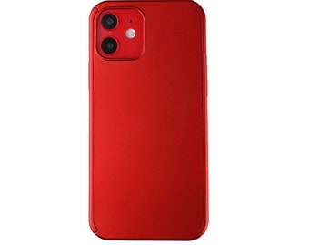 Red silicone gel rubber shockproof cover back case for iPhone 12