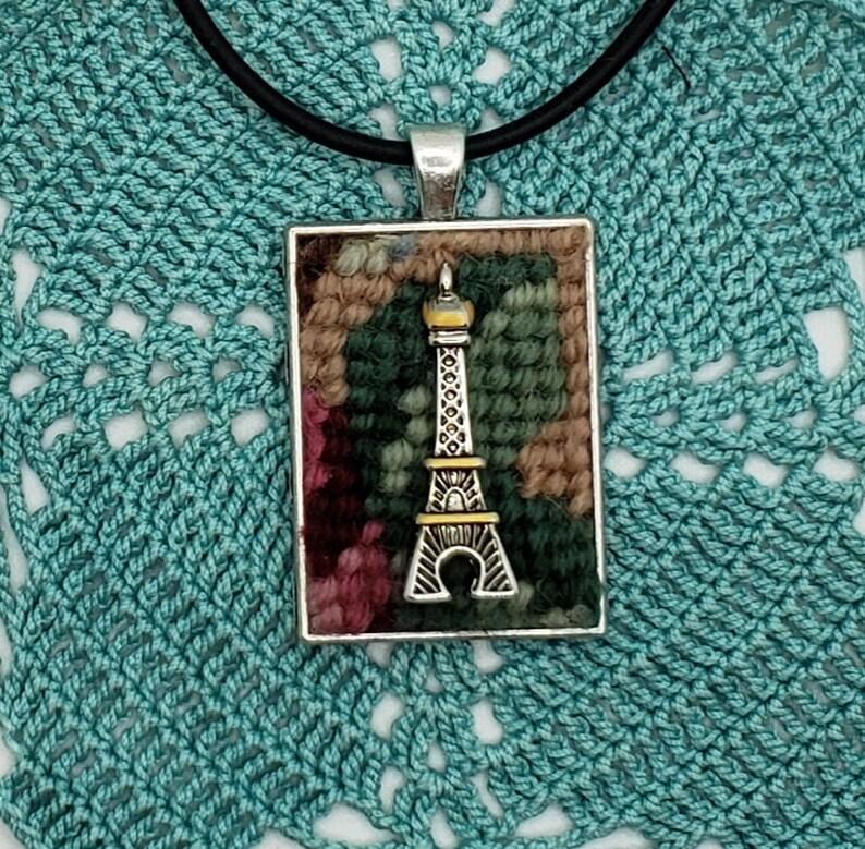 Paris Eiffel Tower Pendant Choker Charm Necklace
