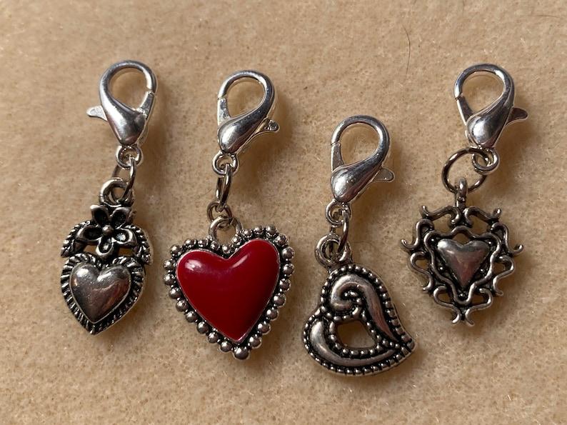 Heart stitch markers