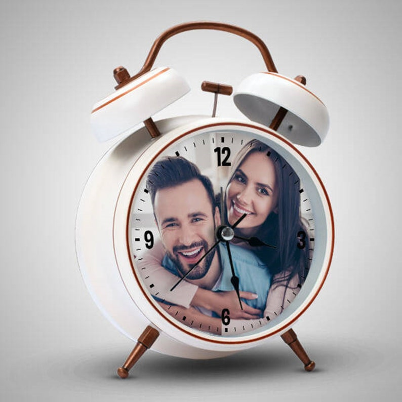 Many people feel annoyed by the alarming clock, so waking up happily in the morning with an alarm clock that is totally new to you and your spouse. But it will come true with this custom photo clock. Your partner will be happy every morning when seeing the alarm clock displaying your favorite photo. It's also a practical gift for those who are always late. It will be a reminder that you should be on time for timeless love.