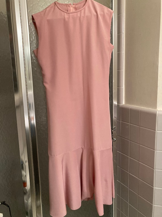 1980s Bubblegum Pink Handmade Prom Dress
