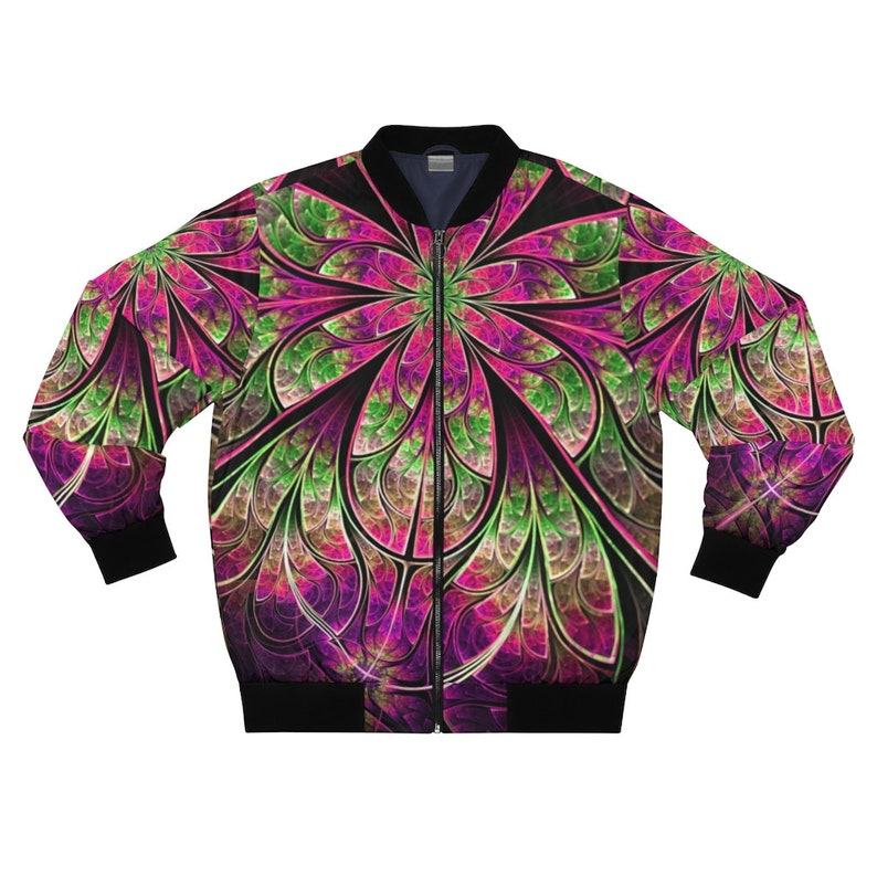 Fractal Embrace Bomber Jacket for bombing down hills or dropping bombs on a beat or b.o.b.