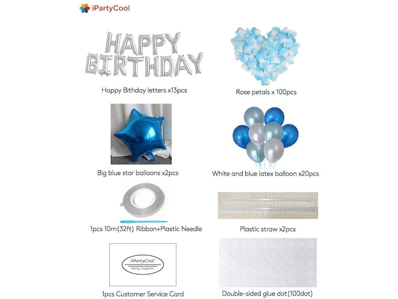 3D Premium Aluminum Foil Banner Balloons for Birthday Party Decorations and Supplies-21-Year Guarantee iPartyCool Happy Birthday Balloons
