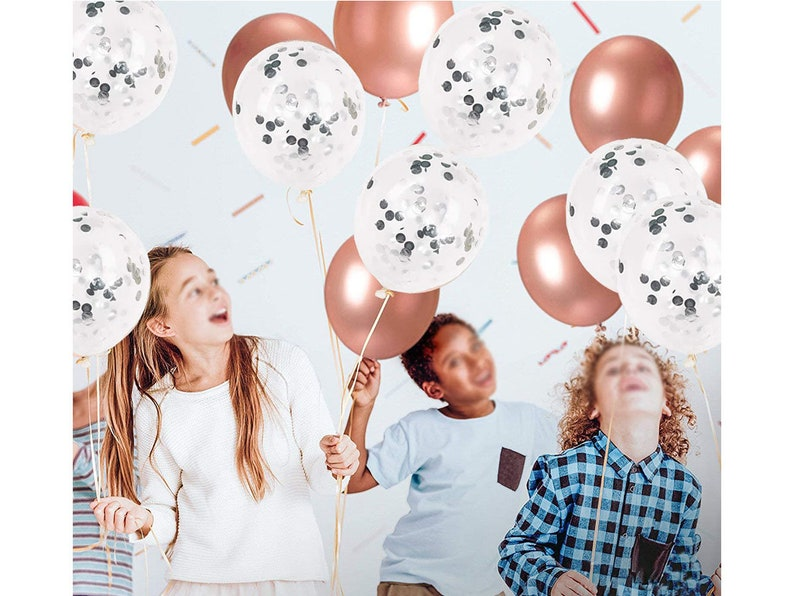 Hontex 87 Pack Rose Gold Party Decoration Set Foil And Latex Premium Balloon Set Include Happy Birthday\uff0813 Letters\uff09 Banner,60 Gold Rose