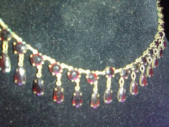 Antique natural ruby necklace