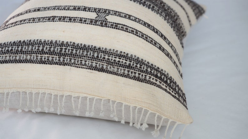 20x20 Cream Vintage Indian Wool Pillow Cover Modern Wool Pillow Modern Farmhouse Pillow TAARA Cream Wool Pillow Rustic Pillow